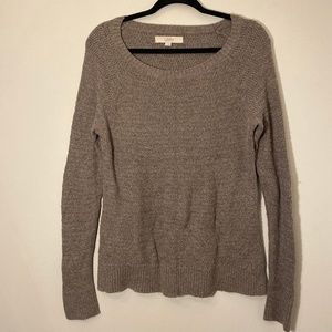 Ann Taylor LOFT | Grey Knit Sweater Size L